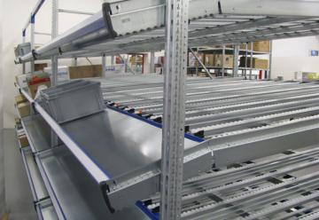 Sistemi di Scaffalature Gravità a Rulli - Logima